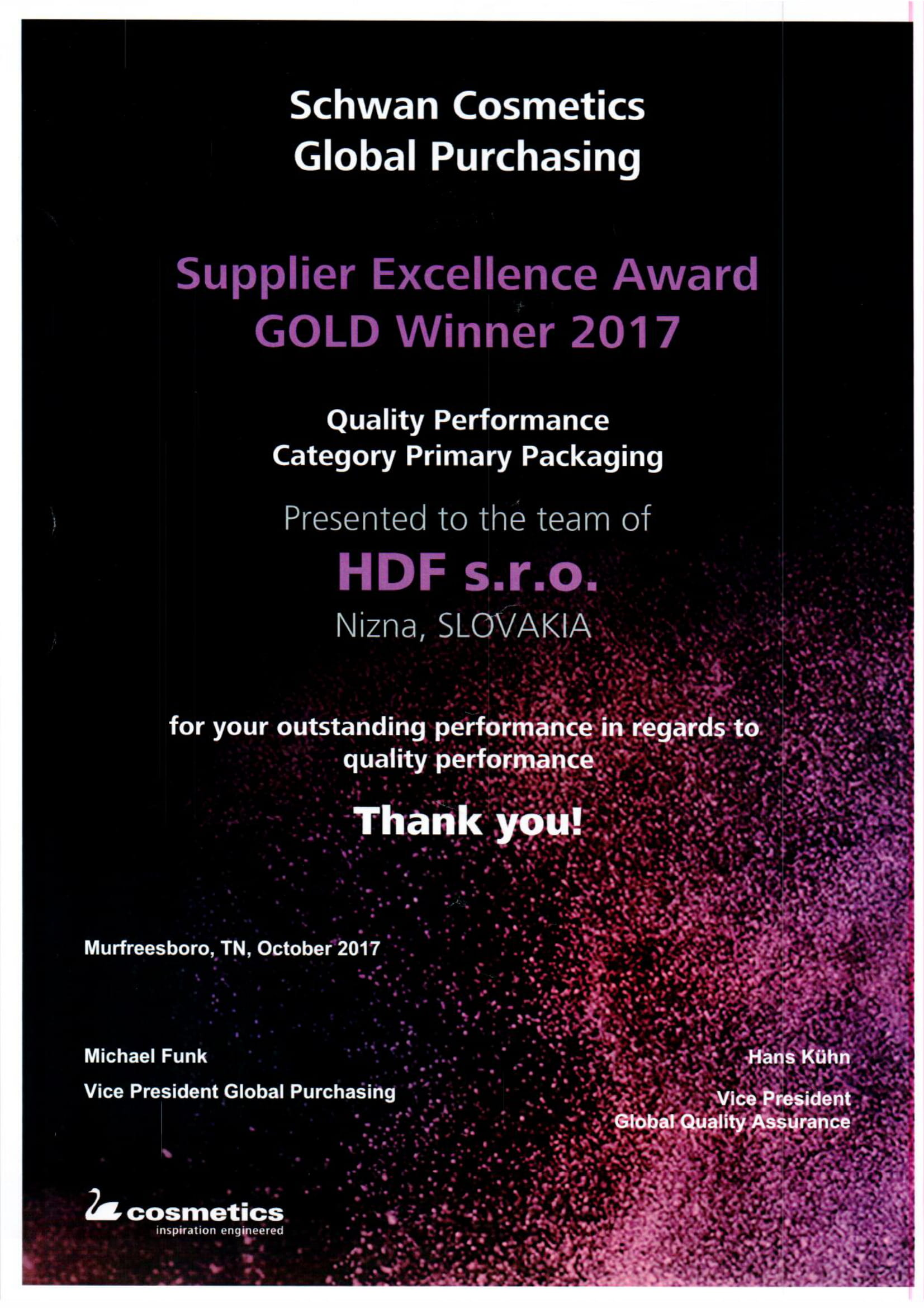 SSC Quality Gold winner 2017-1
